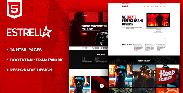 Estrella HTML Template For Creative Agencies - Portfolio Creative