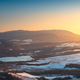 Snow in Tuscany. Winter panorama view at sunset. Siena, Italy - PhotoDune Item for Sale