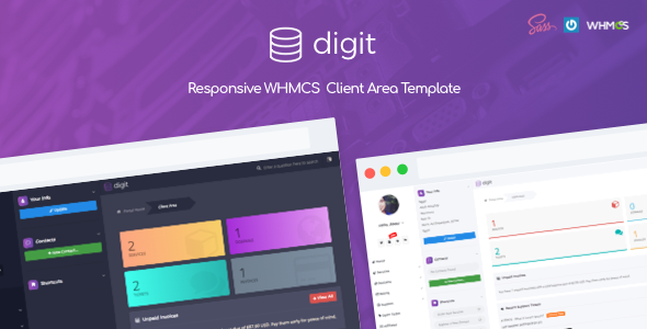 Image of Digit - Responsive WHMCS Client Area Template