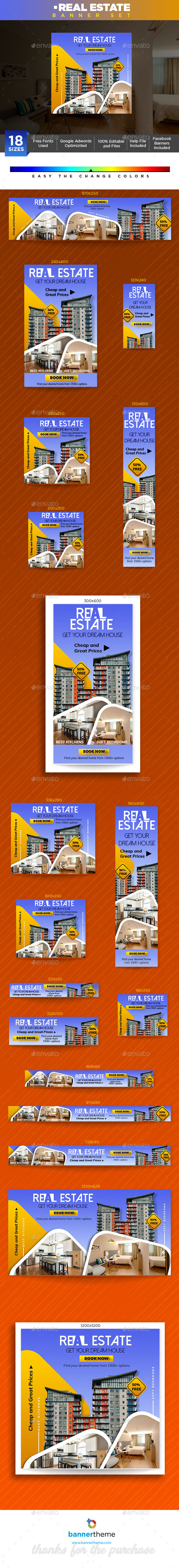 Real Estate Banner - Banners & Ads Web Elements