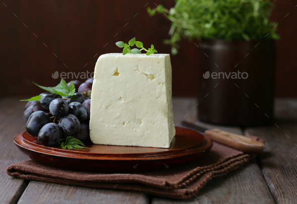 Homemade Cheese  - Stock Photo - Images