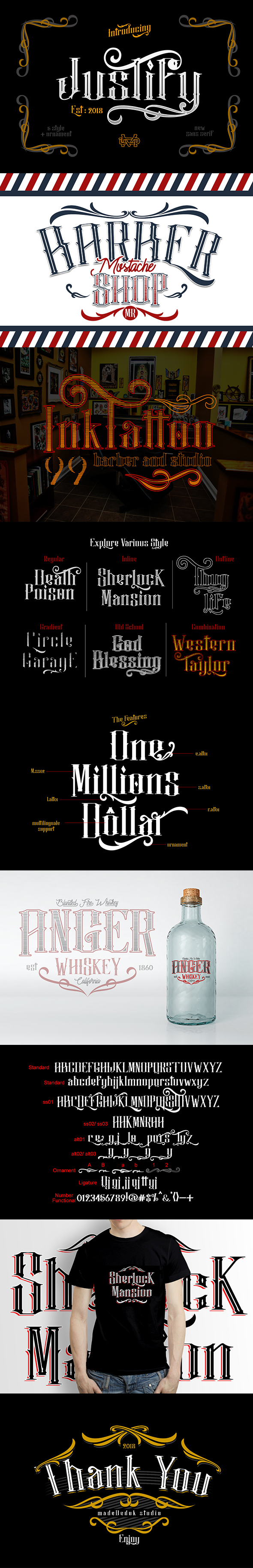 Justify I Font Package - Serif Fonts