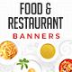 Food & Restaurant Web Banner Set - GraphicRiver Item for Sale