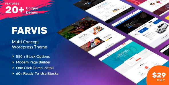 Image of Farvis - Multipurpose WordPress Theme