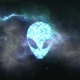 Alien Face Forming From the Stars with Space Background - VideoHive Item for Sale