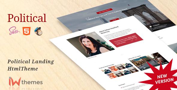 Political Candidate Html Landing Page - Political Nonprofit