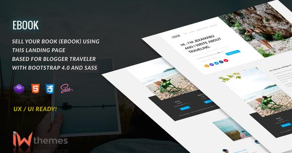 Ebook - Landing, Selling eBook Bootstrap 4 - Marketing Corporate