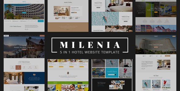 Image of Milenia - Hotel & Resort Website Template