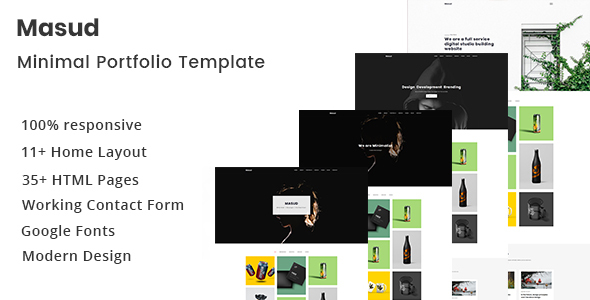 Masud - Minimal Portfolio Template - Portfolio Creative
