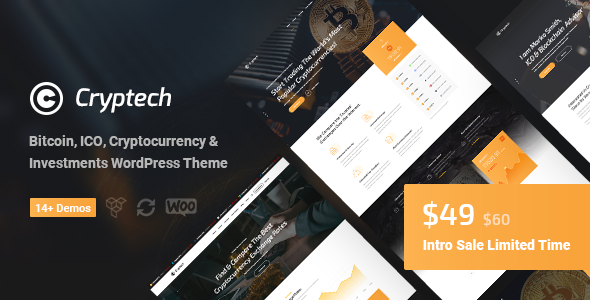 Cryptech - ICO and Cryptocurrency WordPress Theme (Technology)