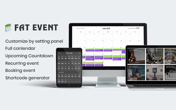 FAT Event - WordPress Event and Calendar Booking (Calendars)