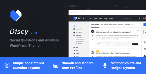 Discy - Social Questions and Answers WordPress Theme - Miscellaneous WordPress