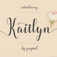 Kaitlyn Script - GraphicRiver Item for Sale
