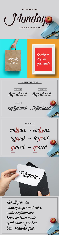 Monday Script - Script Fonts