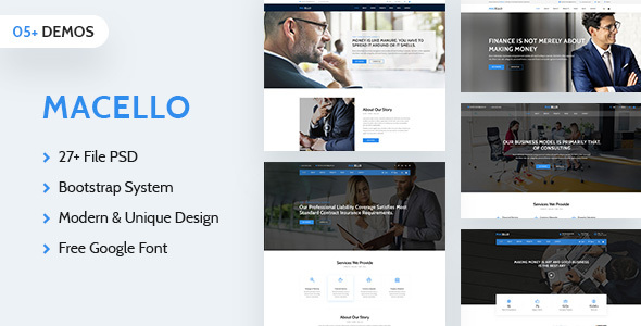Macello | Business Psd Template - Shopping Retail