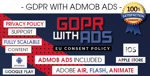 GDPR With AdMob Ads - EU Consent Policy [ Android & iOS ] - CodeCanyon Item for Sale