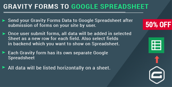 Gravity Form with Google Spreadsheet            Nulled