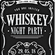 Whiskey Party / Typography Flyer