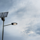 Solar panel on street lamp post - PhotoDune Item for Sale