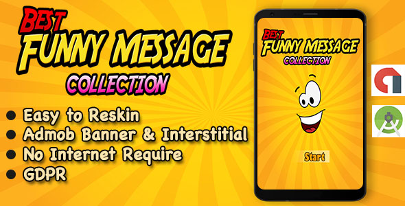 Funny SMS App + Quotes + Ready For Publish + Android Studio            Nulled