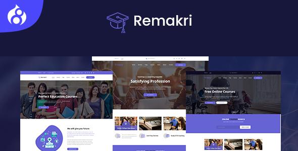 Remakri - Education Course Drupal 8 Theme - Nonprofit Drupal