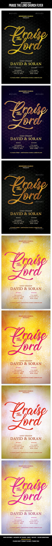 Praise the Lord Church Flyer - Church Flyers