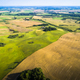Aerial view of a country side with agricultural fields  - PhotoDune Item for Sale
