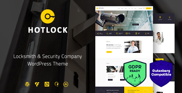 HotLock | Locksmith & Security Systems WordPress Theme - Business Corporate