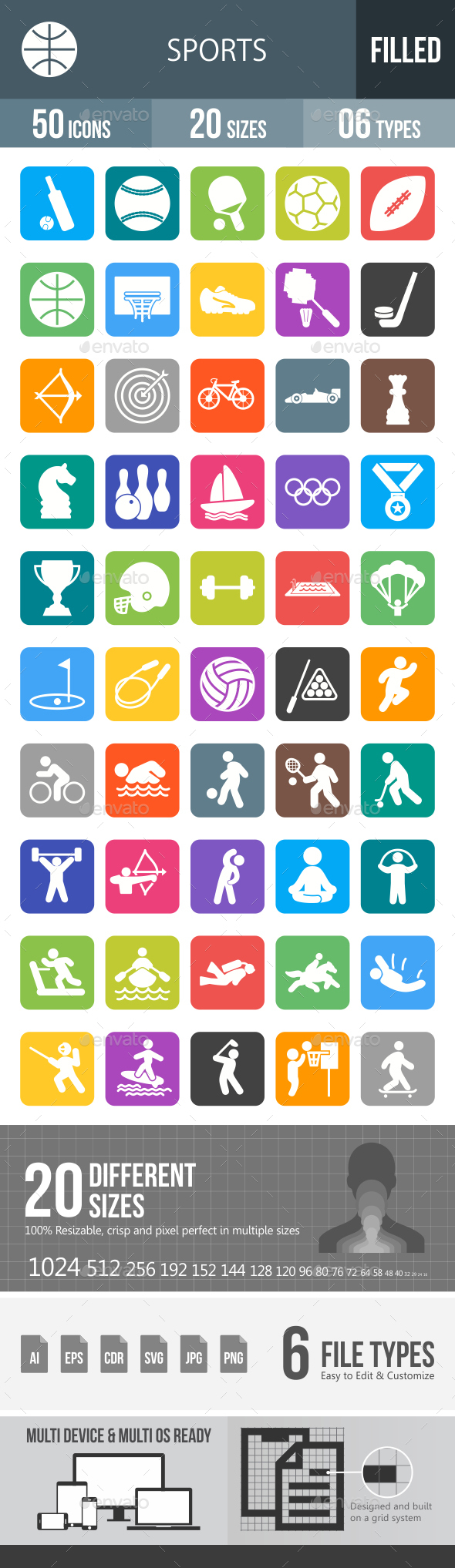 Sports Glyph Inverted Icons - Icons
