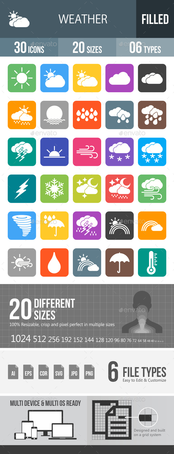 Weather Glyph Inveretd Icons - Icons