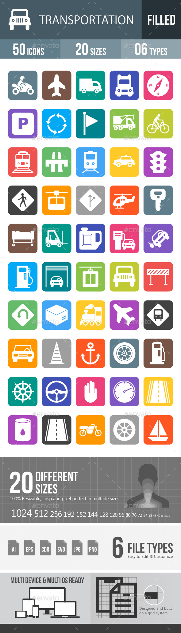 Transport Glyph Inverted Icons - Icons