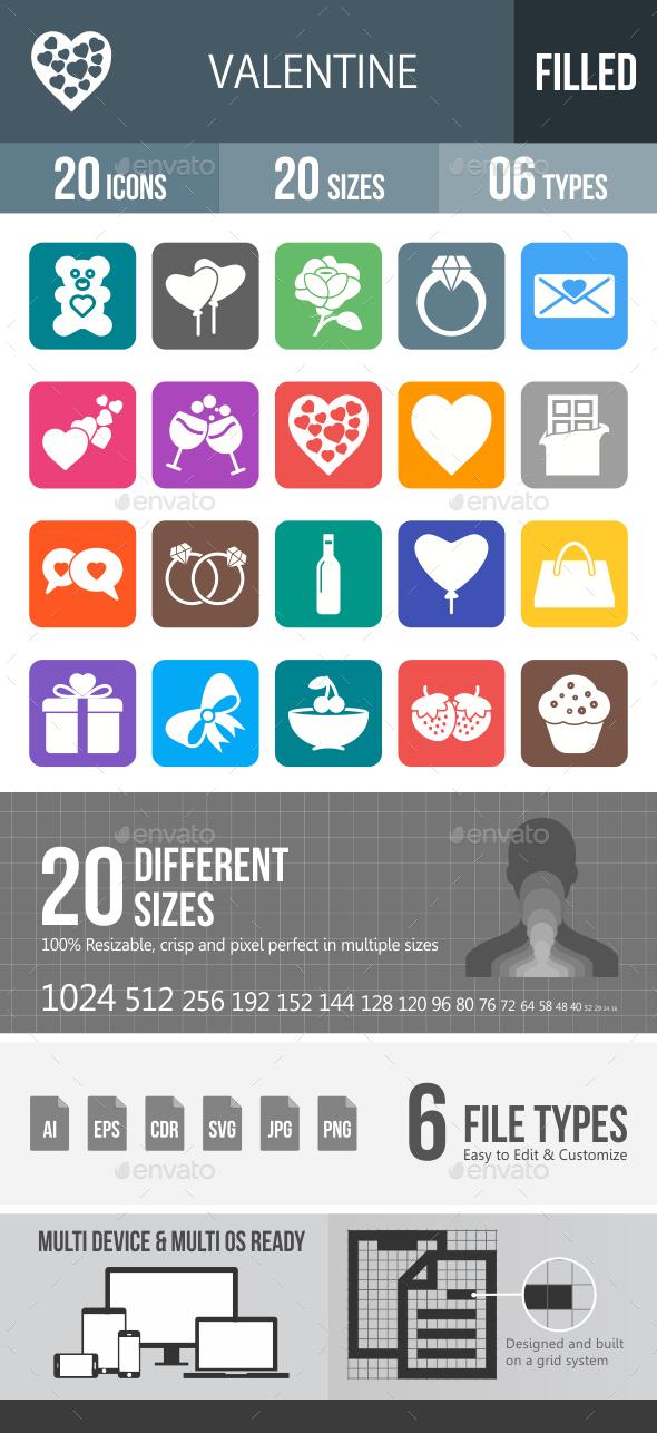 Valentine Glyph Inverted Icons - Icons