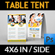 Fitness - GYM Table Tent Template