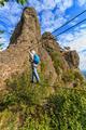 Climber on via ferrata bridge - PhotoDune Item for Sale