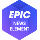 Epic News Elements - News Magazine Blog Element & Add Ons for Elementor & WPBakery Page Builder