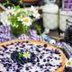 Fresh homemade creamy blueberry tart (open pie) on rustic backgr - PhotoDune Item for Sale