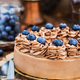 Delicious homemade chocolate cheesecake decorated with fresh blu - PhotoDune Item for Sale