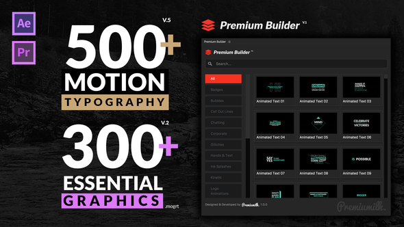 VideoHive: Motion Typography 20645019 (Updated 26 July 18) (AE-Project & Script)