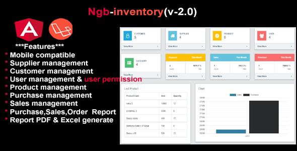 inventory angular6+laravel5.6