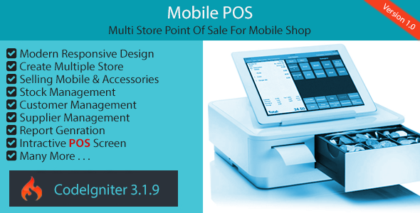 Mobile POS - Multi Store Point Of Sale for Mobile Shop            Nulled