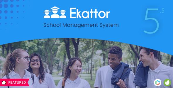 Ekattor School Management System Pro - CodeCanyon Item for Sale