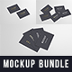 Business Cards Mockup Bundle 85x55