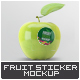 Fruit Sticker Mock-Up - GraphicRiver Item for Sale