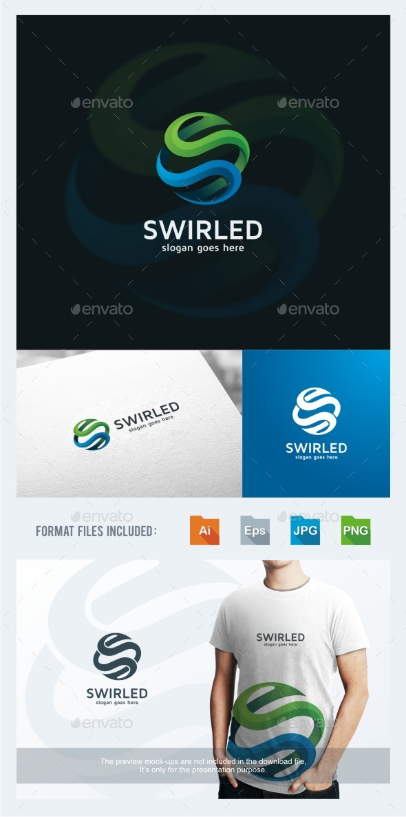 Swirled - Letter S Logo Template - Letters Logo Templates