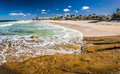 Panoramic image of ocean waves on a Kings beach, Caloundra, Aust - PhotoDune Item for Sale