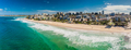 Aerial panoramic image of ocean waves on a Kings beach, Caloundr - PhotoDune Item for Sale