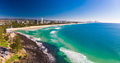 Aerial view of Burleigh Heads - famous surfing beach suburb on t - PhotoDune Item for Sale