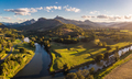 Drone view of Tweed River and Mount Warning, New South Wales, Au - PhotoDune Item for Sale