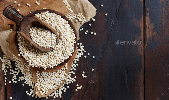 Raw White Sorghum grain - Stock Photo - Images