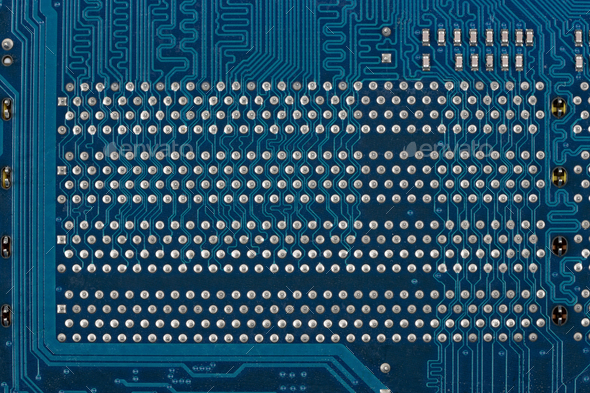 Blue circuit board, a background - Stock Photo - Images